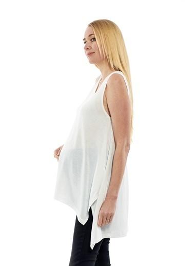Motherway Maternity Tişört Ekru